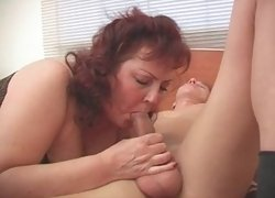 Mature fatty gets fucked fully dressed in this video!